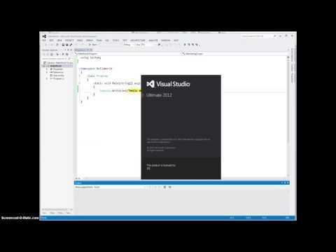 Creating C# Projects/Programs Using Visual Studio 2012