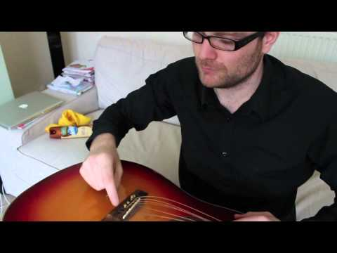 How to Restring an Acoustic Guitar (Epiphone Hummingbird)