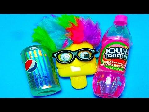 Cool Unique Lip Balms!! Diet Pepsi Cola, Jolly Rancher Watermelon and Lemon Puckers Pop!