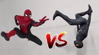 Spiderman vs Black Spiderman (Venom) In Real Life   Parkour vs Tricking