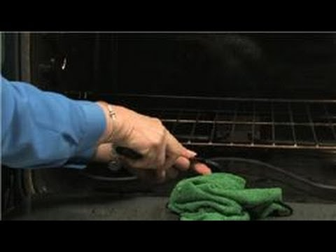 How to Keep Your Kitchen and Appliances Clean : How to Clean an Oven With Stuck Aluminum Paper