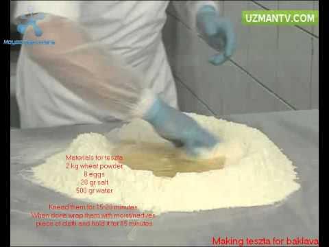 Making Baklava   Part 1 Dough for Baklava