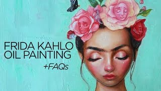 How To Overcome Art Block Oil Painting Of Frida Kahlo Time Lapse