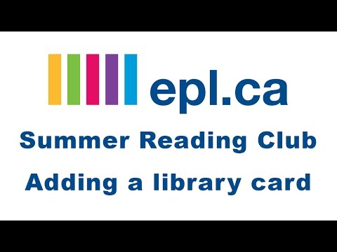 Summer Reading Club: Adding a Library Card