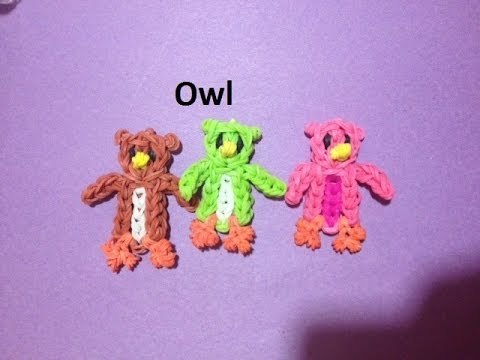 How to Make an Owl on the Rainbow Loom - Original Design
