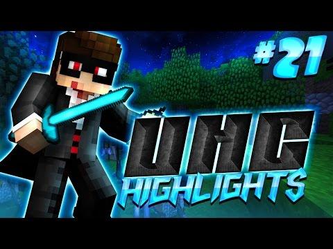 FIRE ASPECT II DIAMOND SWORD - Minecraft UHC Highlights #21 (Huahwi Lights)