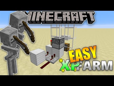 MINECRAFT - EASY and EFFICIENT XP Farm (Skeleton)
