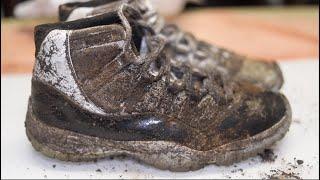Cleaning The Dirtiest Jordan's Ever! $650 Air Jordan DMP 11's Back to NEW!