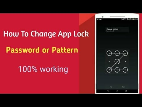 how to change app lock  pattern or password