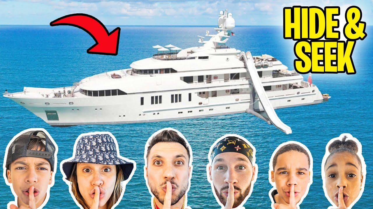 HIDE & SEEK on a 30 Million Dollar YACHT! 😱 | The Royalty Family