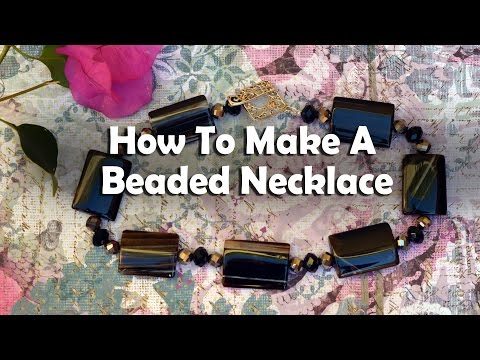 Jewelry Making Tutorial: How To Make A Beaded Gemstone Necklace