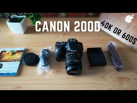 canon 200d India  Under 40K  Unboxing & Quick Review
