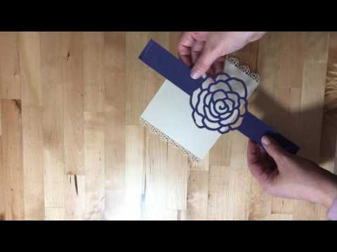 Roses Belly Bands for Invitations by Simply Cuttable