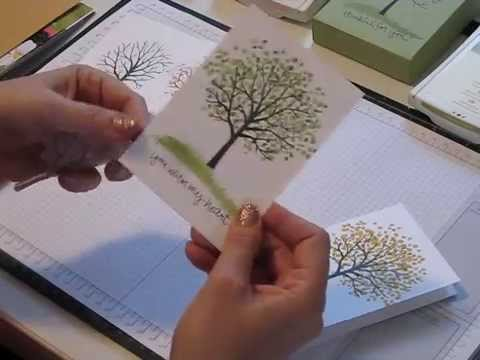 Four Seasons card set  with the Sheltering Tree