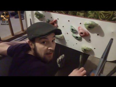 DIY Campus Board/Training Setup for Rock Climbing..