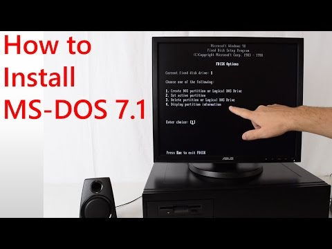 How to install MS DOS 7.1