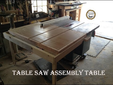 Woodworking : Torsion Box Outfeed Table Saw Table // How-To Part Two