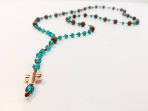 DIY /TUTORIAL Rosary Beaded Necklace