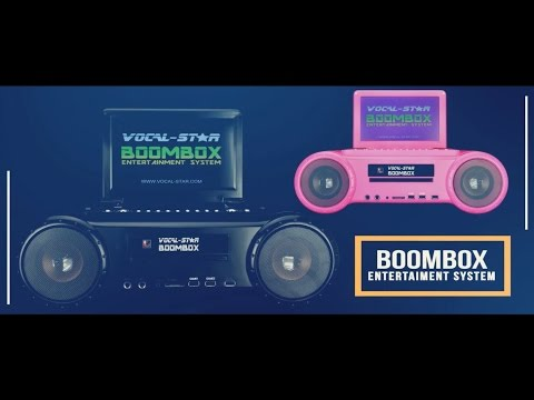 Vocal-Star Boombox Portable Karaoke Machine CD/DVD Player Product Video (e)