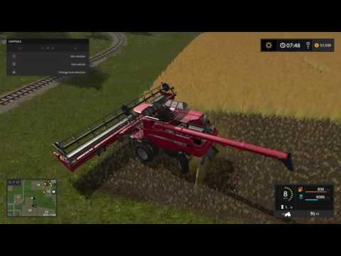 Farming Simulator 17 canola harvest