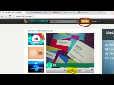 How to Upload and Share Valentine's Day PowerPoint Slideshow on Facebook