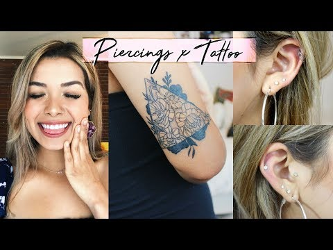 MY PIERCINGS & TATTOO!! | Meaning, Regrets, & Pain Scale