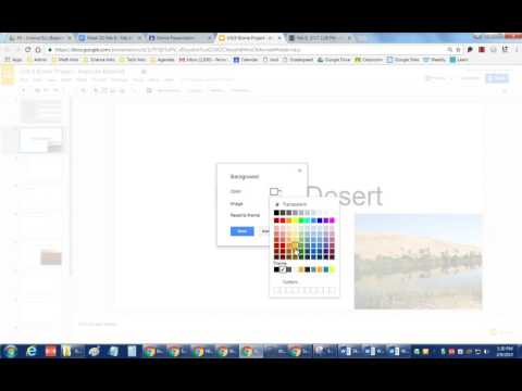 How to fix spelling errors, change background, and change font color in Google Slides