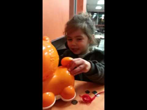 Allyson playing at Dunkin Donuts