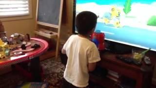 Mason playing Beam Box
