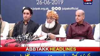 AbbTakk Headlines – 11 PM – 26 June 2019