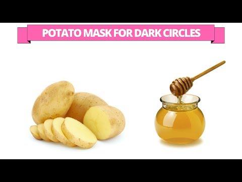 Potato mask for dark circles