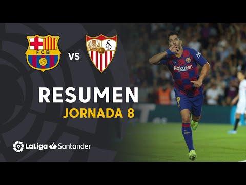 Resumen de FC Barcelona vs Sevilla FC (4-0)