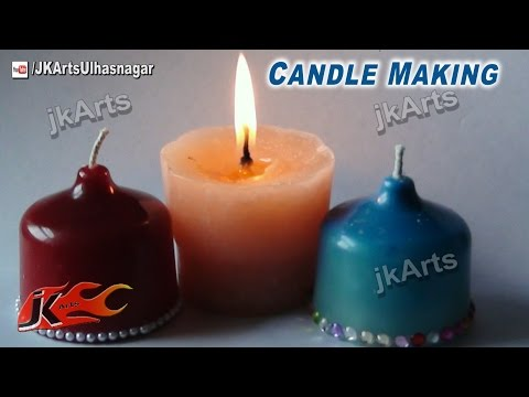 How To Make a Candle ( Make Your Own Molds )  | JK Arts 474