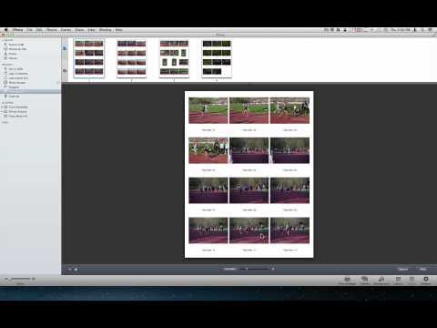 Making a Contact Sheet with iPhoto 11