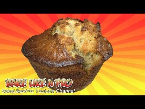 EASY Jumbo Banana Muffins Recipe by BakeLikeAPro