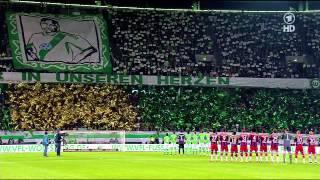 VfL Wolfsburg - FC Bayern Gedenken an Junior Malanda HD