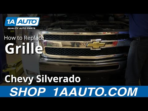 How To Remove Install Front Grille 2007-13 Chevy Silverado
