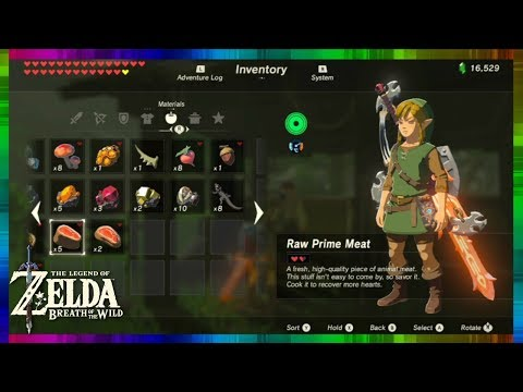 Zelda Breath of the Wild - How to Farm Prime Meat for Lots of Hearts & Rupees