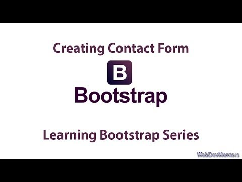 Adding or Creating Contact Form in Bootstrap [Only HTML]