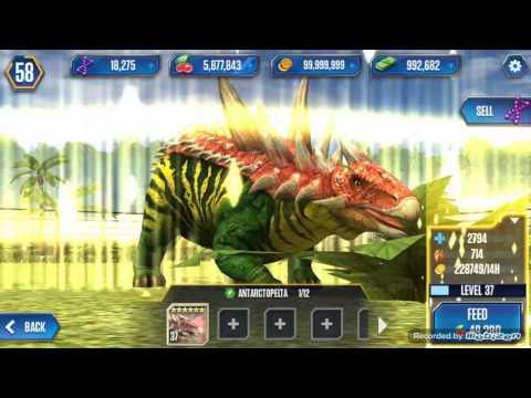 Level 40 Antarctopelta Jurassic World The Game Playtunez World