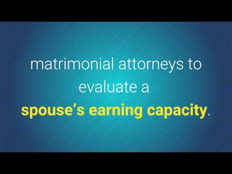 Determining the Earning Capacity of the Unemployed and Under Employed Spouse _ Expert Witness DrM