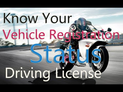 Know Your Vehicle Registration Status Driving License, Check online Vehicle Registration, License