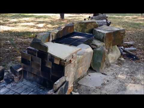 DIY Stone BBQ Fire Pit  - Outdoor Grill