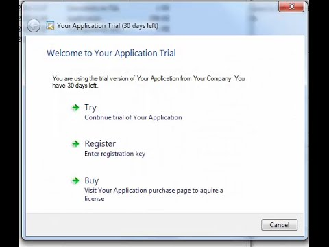 Trial and Registration for Java application