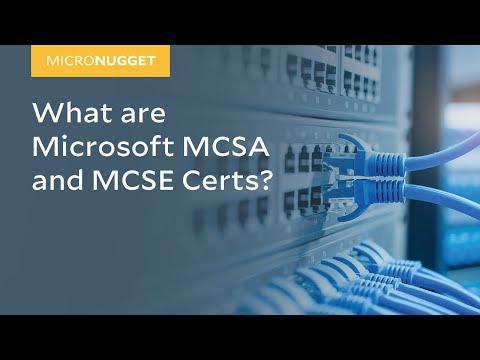 MicroNugget: Microsoft MCSA and MCSE Certs