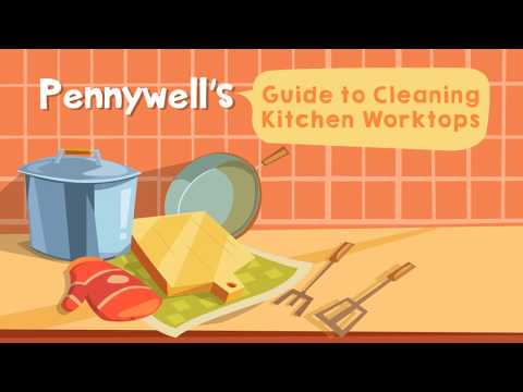 Handy tips for cleaning kitchen worktops!