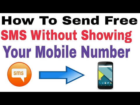 How To Send Free SMS Without Showing Your Mobile Number