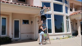 WE BROKE INTO THE NEW HOUSE! (Crazy night!)