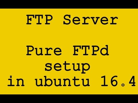 Configure FTP Server Pure FTPd in ubuntu 16.4