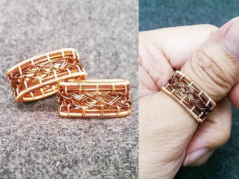 unisex copper ring - knot ring for men - big ring for men  and women 274